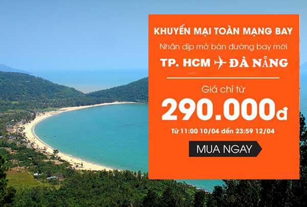 Vé máy bay đi Đà Nẵng tháng 5 chỉ 290K