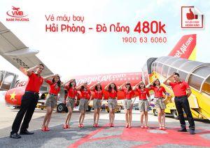 Vé máy bay khuyến mãi Hải Phòng-Đà Nẵng 480k
