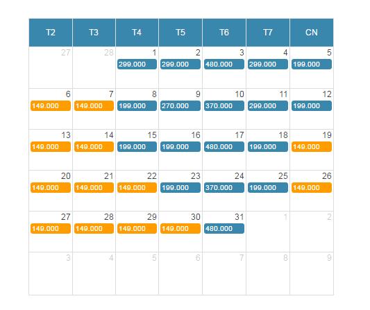 Bảng giá vé máy bay giá rẻ đi Huế tháng 3