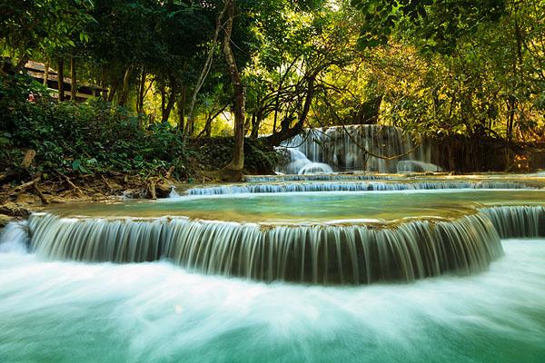 Một điểm du lịch tại Luông Pha Băng