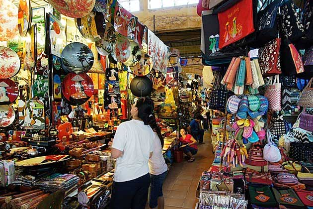 Một góc bên trong Chợ Bến Thành